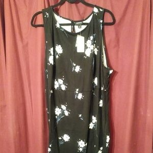 Torrid black floral ponte dress